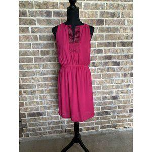 Pixley womens magenta pink sleeveless dress small